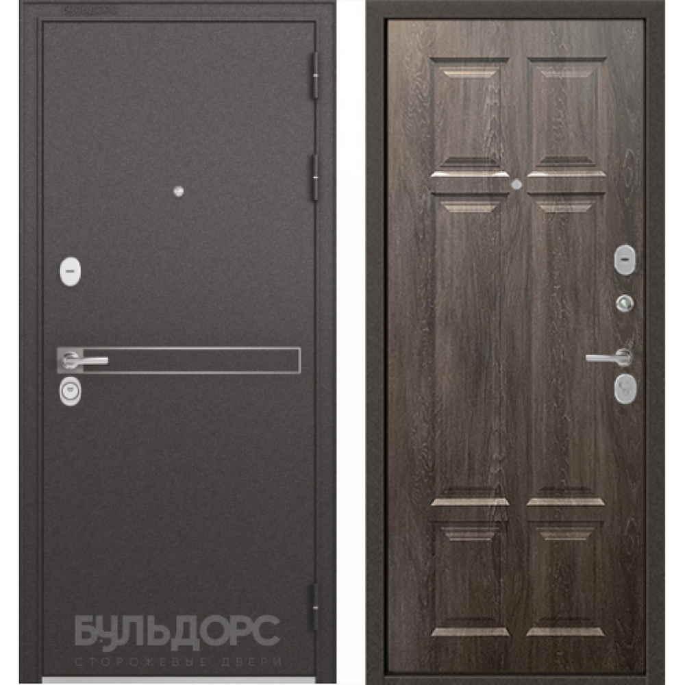 Входная дверь Бульдорс Standart 90 D-4 Дуб шале серебро (Трехконтурные)