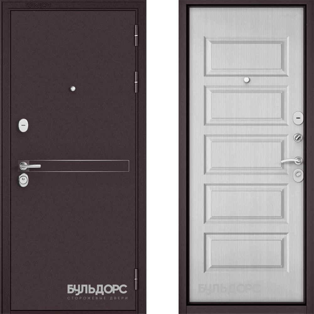 Входная дверь Бульдорс Standart 90 D-4 Дуб светлый матовый (Трехконтурные)