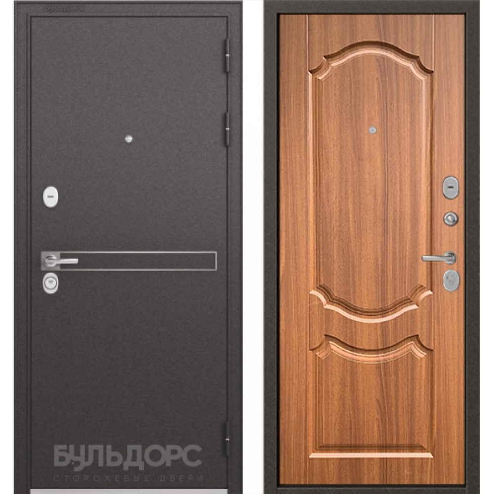 Входная дверь Бульдорс Standart 90 D-4 Орех лесной (Трехконтурные)
