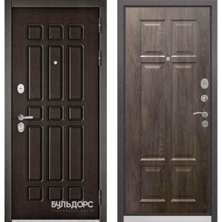 Входная дверь Бульдорс Standart 90 Дуб шоколад / Дуб шале серебро (с шумоизоляцией)