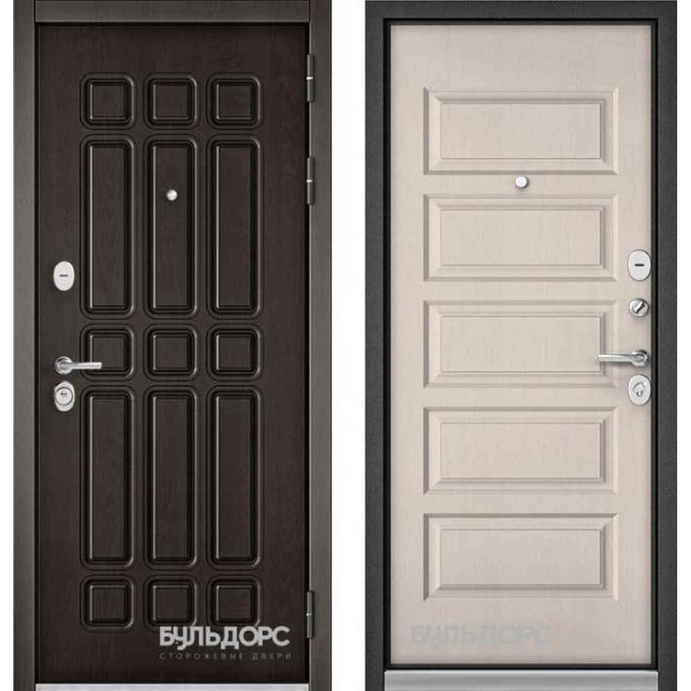 Входная дверь Бульдорс Standart 90 Дуб шоколад / Светлый матовый (с шумоизоляцией)