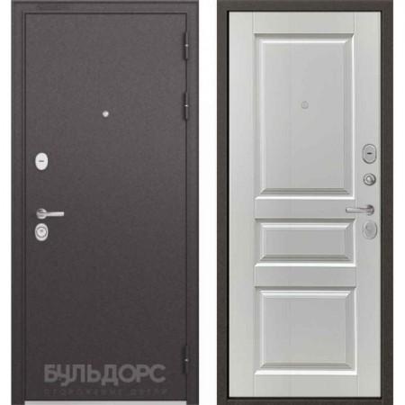 Входная дверь Бульдорс Standart 90 Ларче белый (Трехконтурные)