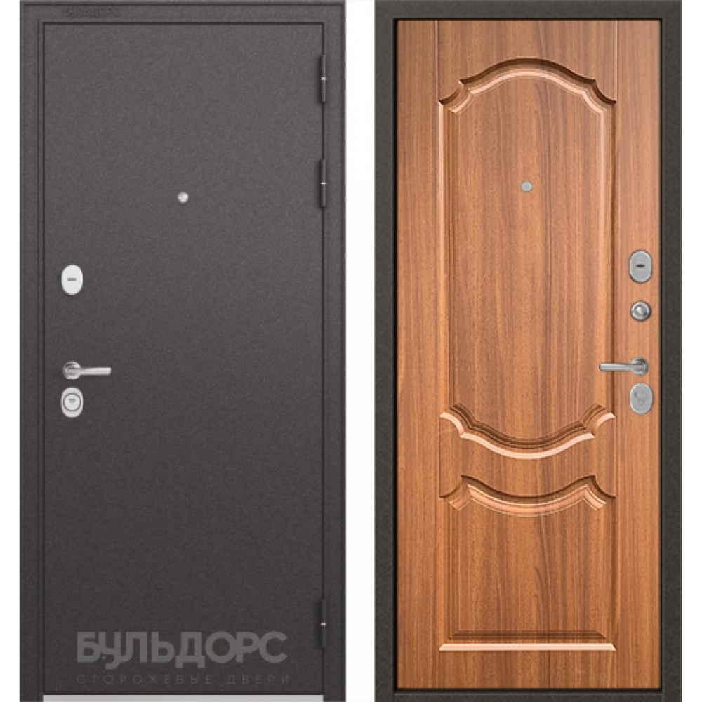 Входная дверь Бульдорс Standart 90 Орех лесной (с шумоизоляцией)