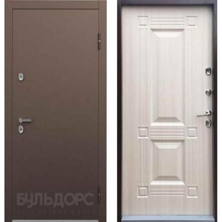 Входная дверь с терморазрывом для дома Бульдорс ТермоБУЛЬ-1 Дуб Крем (Морозостойкие)