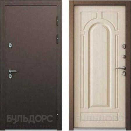 Входная дверь с терморазрывом для дома Бульдорс ТермоБУЛЬ-2 Белый перламутр (С терморазрывом)