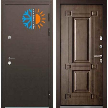 Входная дверь с терморазрывом для дома Бульдорс ТермоБУЛЬ-2 Грецкий Орех (С терморазрывом)