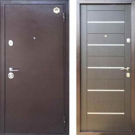 Входная дверь Бульдорс 13М в цвете венге темный A-14 (Антивандальные)