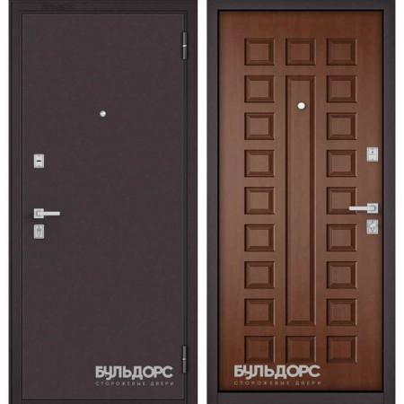 Входная дверь Бульдорс Mass-70 Букле шоколад/Дуб золотой (Наружного открывания)