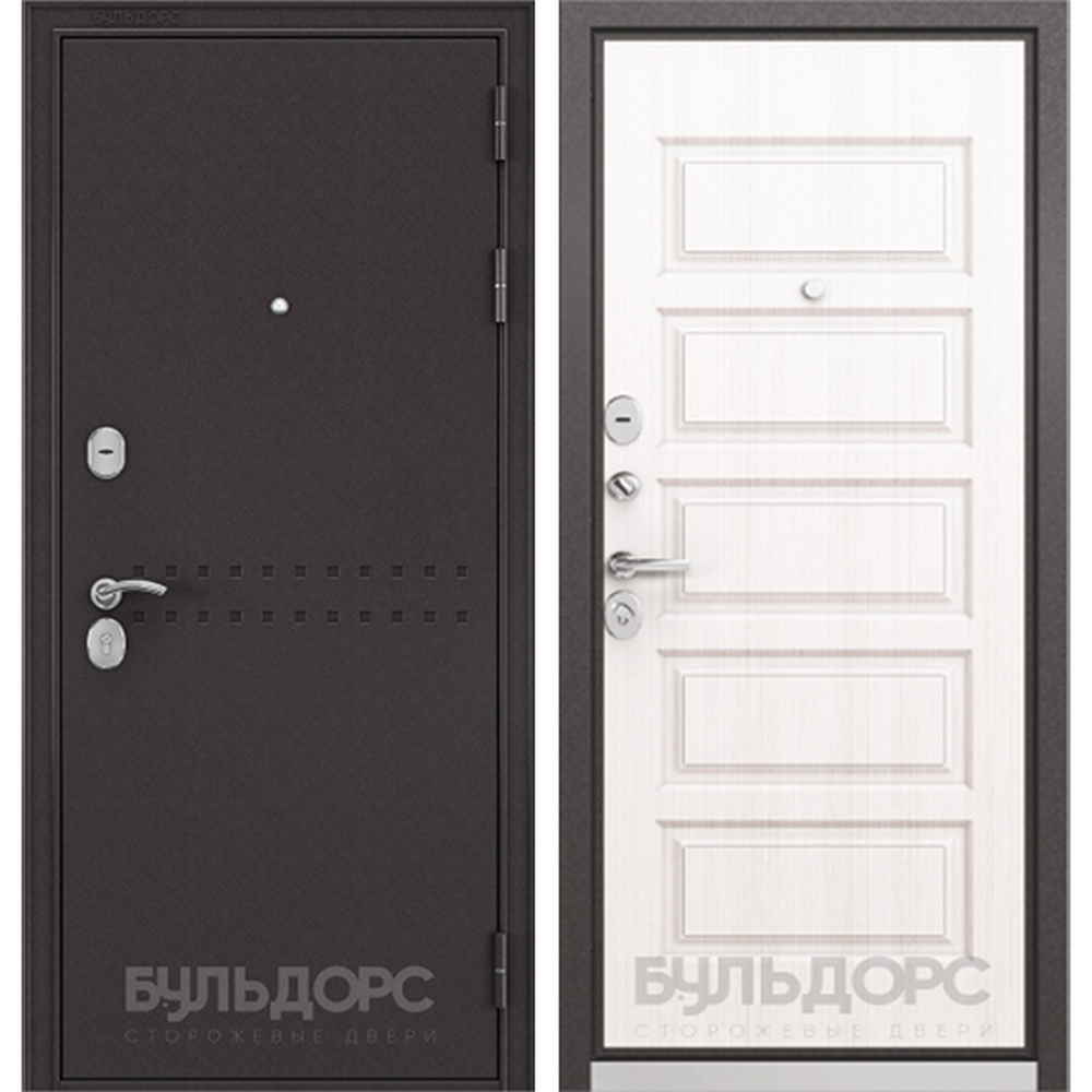 Входная дверь Бульдорс MASS 90 Дуб светлый матовый (Трехконтурные)