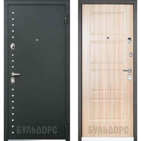 Входная дверь Бульдорс Martin 44R цвете серый холст R-13 (с шумоизоляцией)