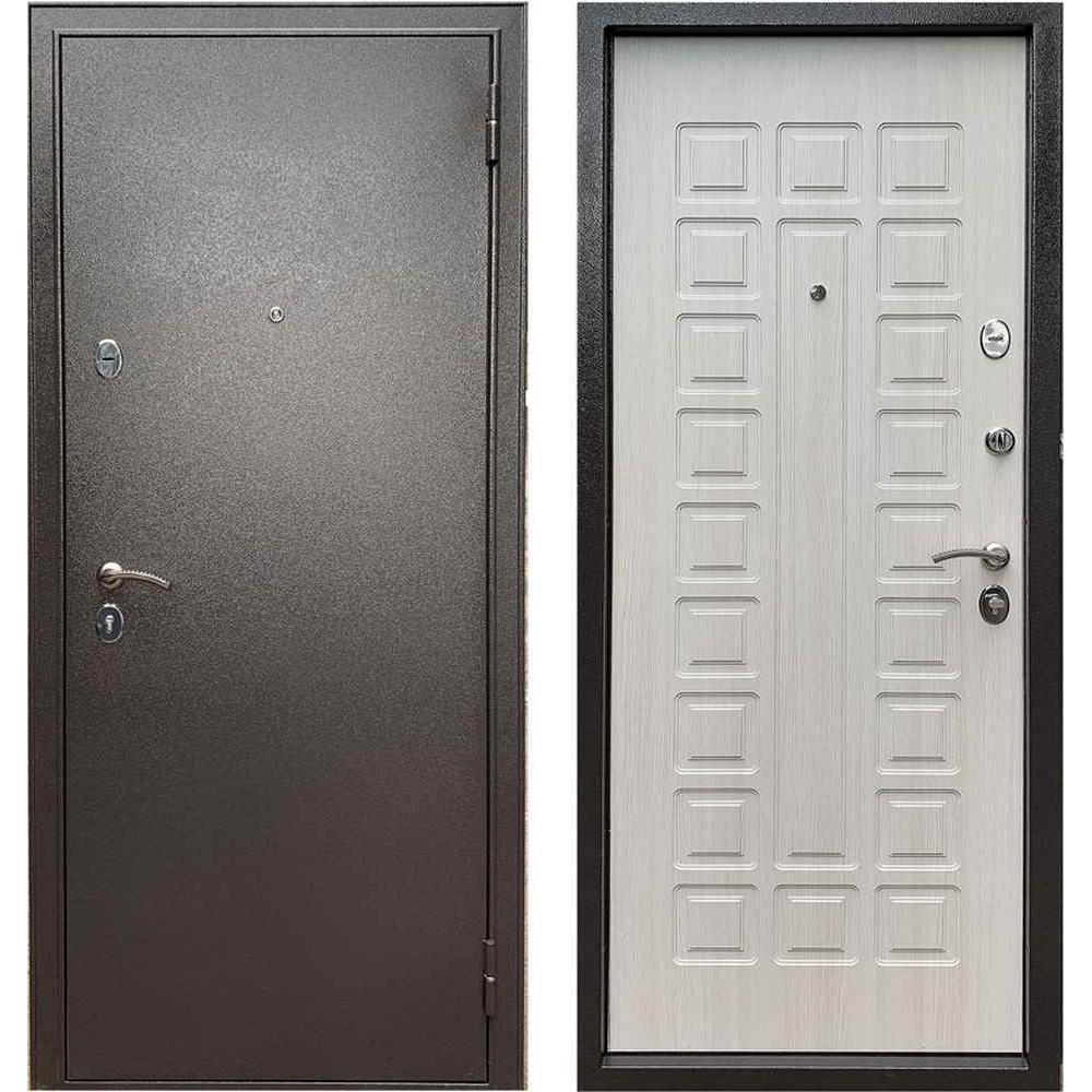 Входная дверь Бульдорс Эконом-3 Ларче бьянко (Антивандальные)