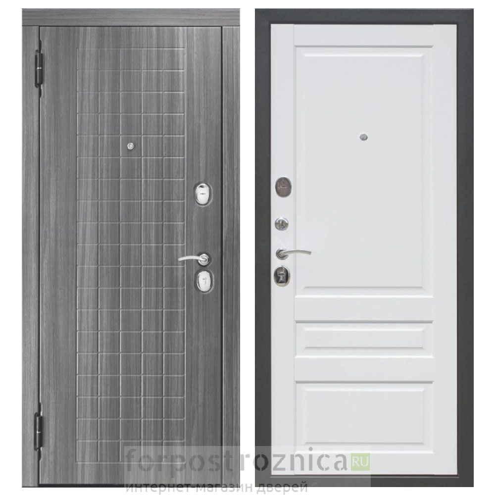 Входная дверь Цитадель Гарда грей белый матовый