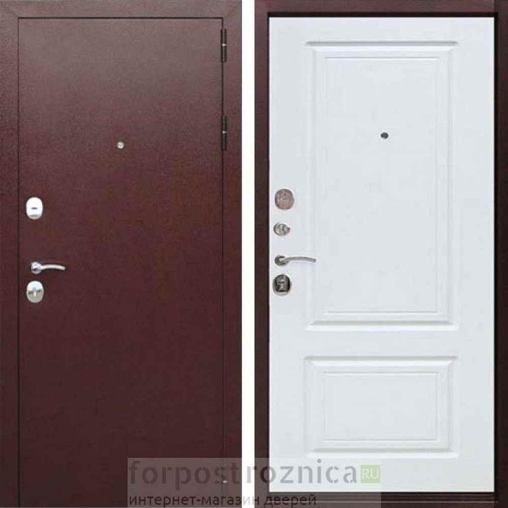 Входная дверь Цитадель 10 см Толстяк РФ  Белый ясень (Трехконтурные)