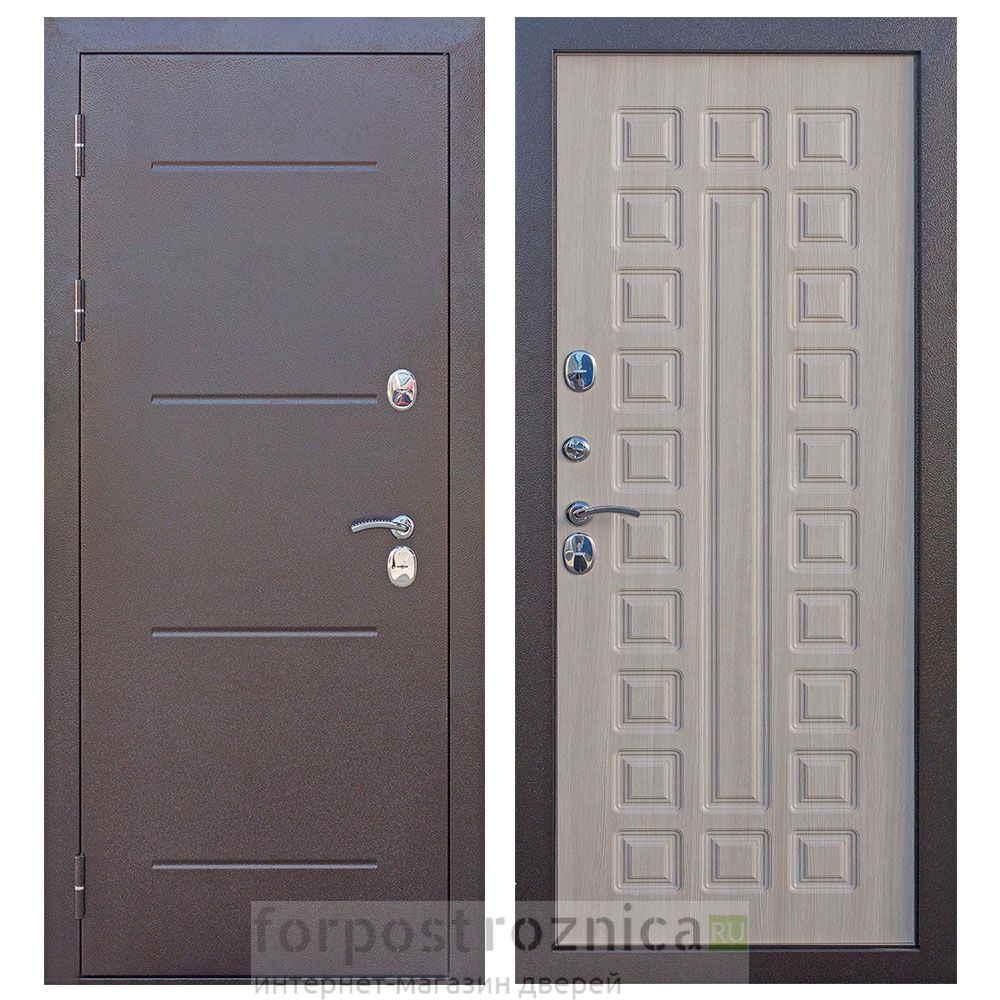 Входная дверь Цитадель ISOTERMA 11 см медный антик Лиственница мокко