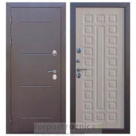 Дверь с терморазрывом Цитадель ISOTERMA 11 см медный антик Лиственница мокко