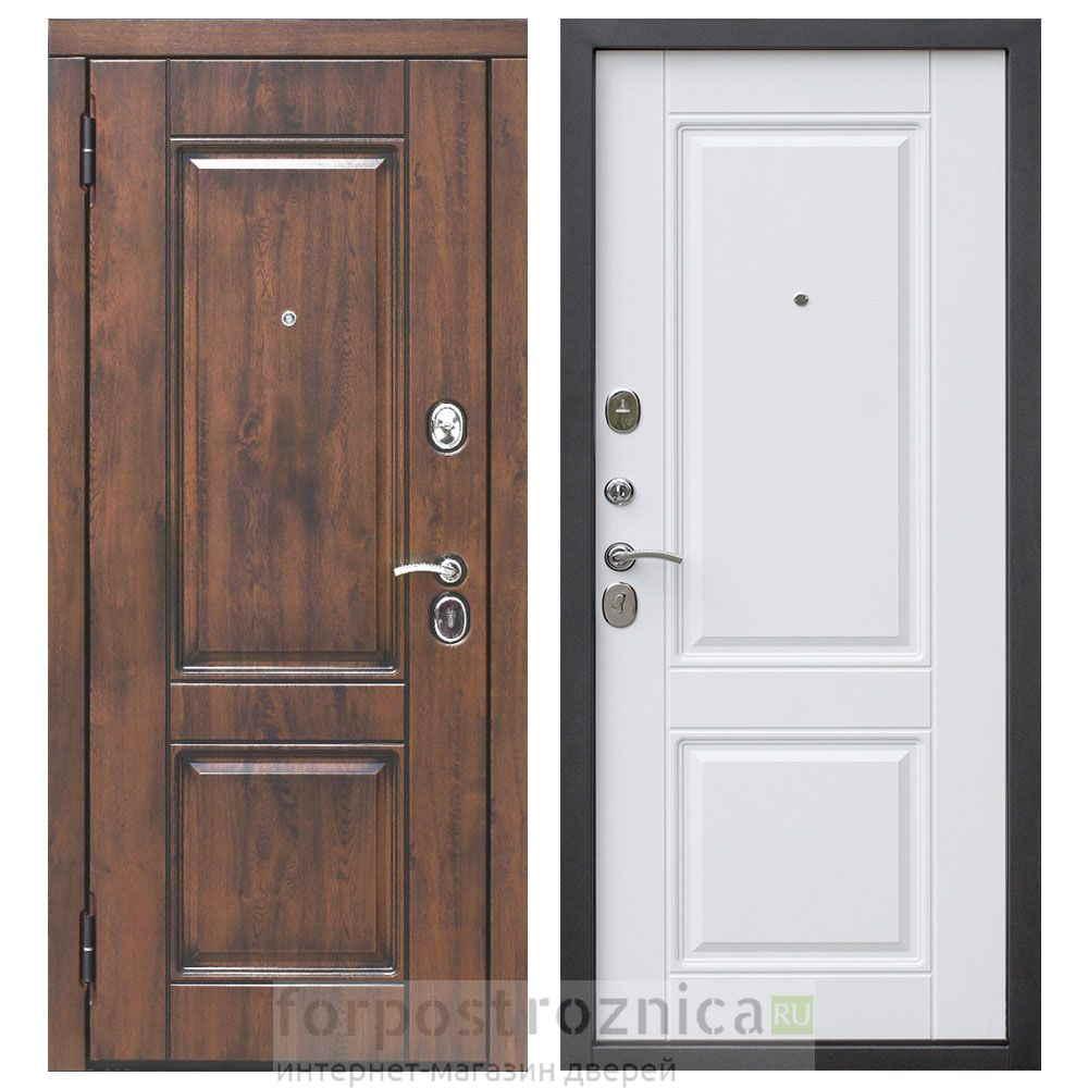 Входная дверь Цитадель Вена винорит патина белый матовый