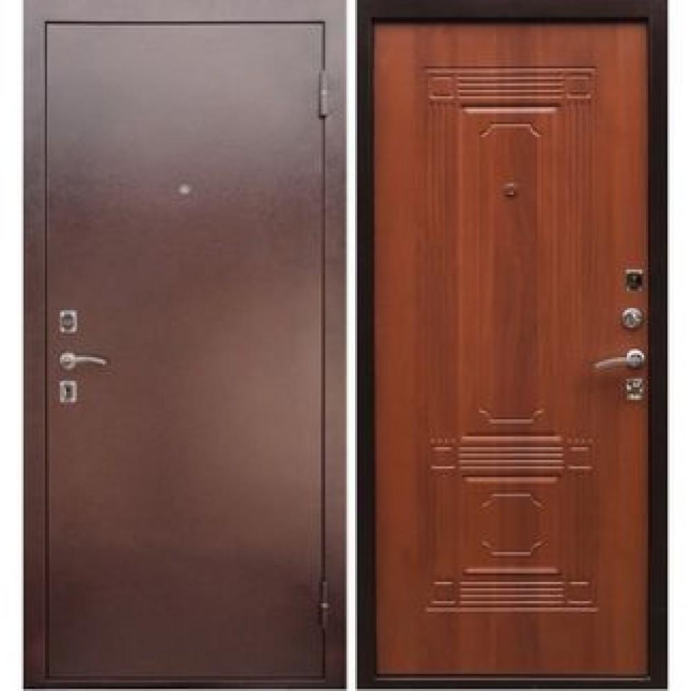 Входная дверь Рекс 1 ФЛ-2 Итальянский орех (Наружного открывания)