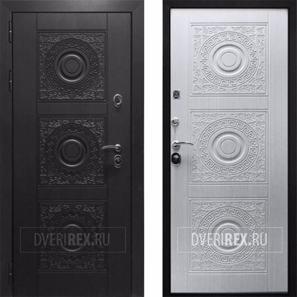 Входная дверь Рекс 10 Сосна Белая (сейфовые)