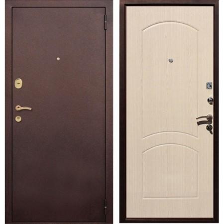 Входная дверь Рекс 1A Беленый Дуб ( Наружного  открывания)