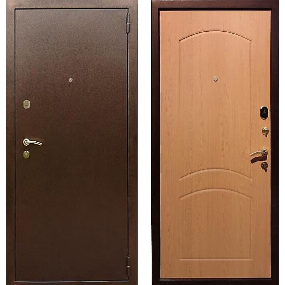 Входная дверь Рекс 1A Дуб светлый (Наружного открывания)