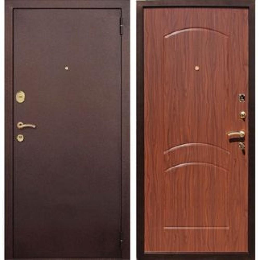 Входная дверь REX 1A Орех ( Антивандальные )