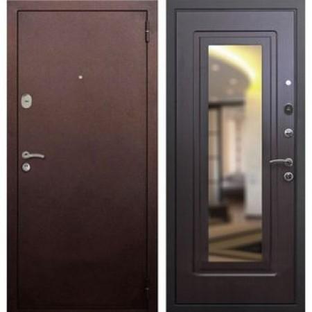 Входная дверь Рекс 1A Зеркало Венге  (Антивандальные)