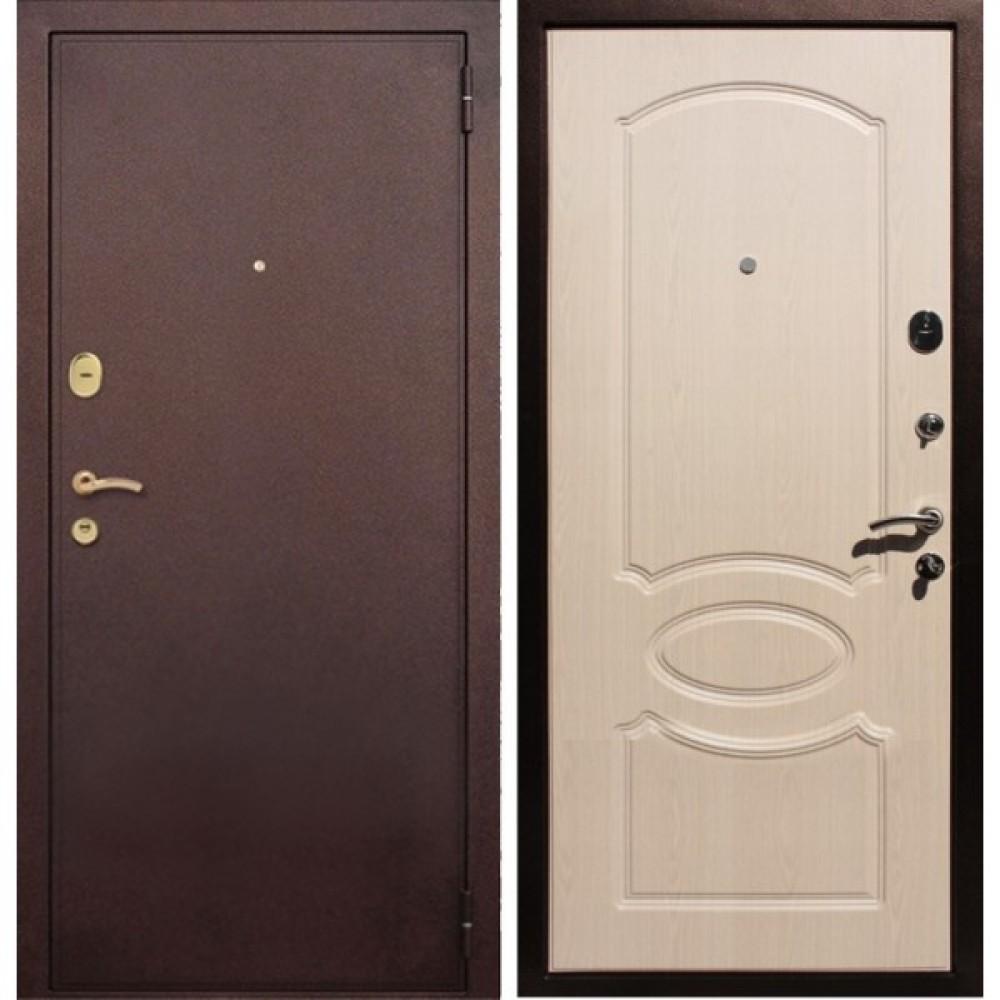 Входная дверь Рекс 2 Беленый Дуб (Антивандальные)