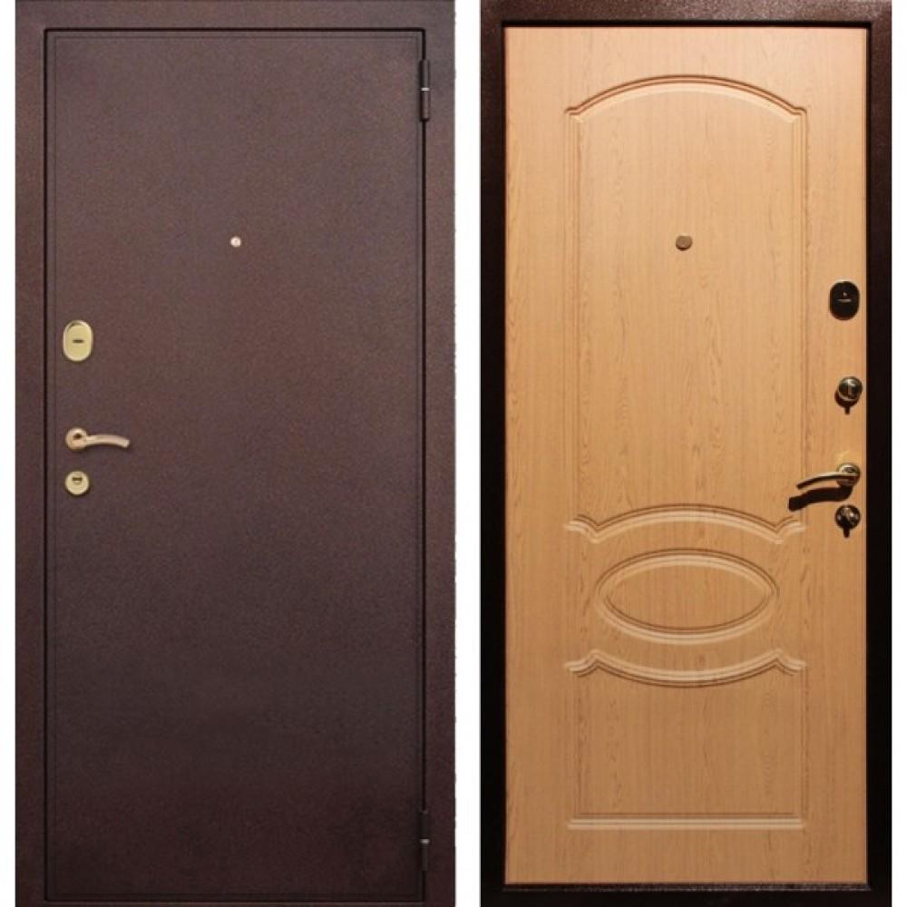 Входная дверь Рекс 2 Дуб светлый (Антивандальные)