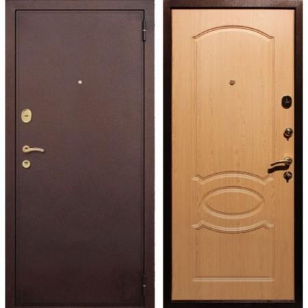 Входная дверь REX 2 Дуб светлый (Антивандальные)