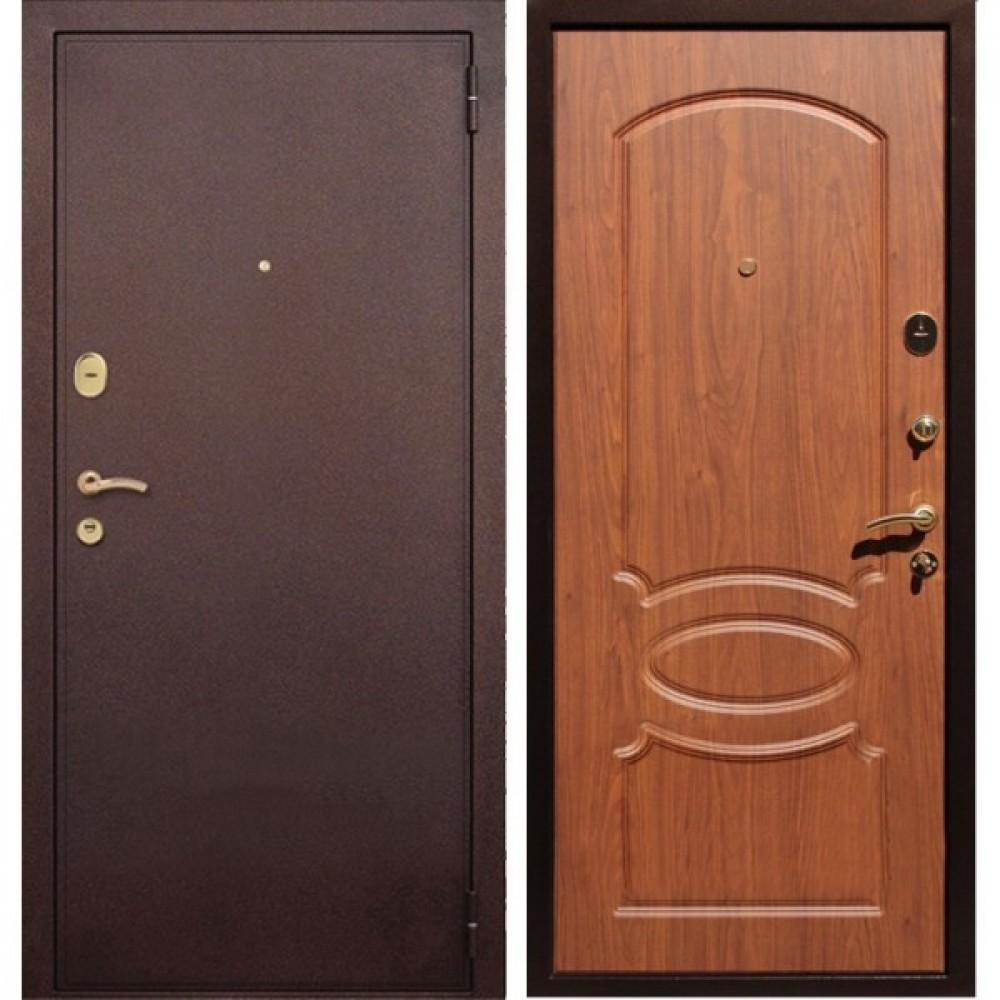Входная дверь REX 2 Орех ( Антивандальные)