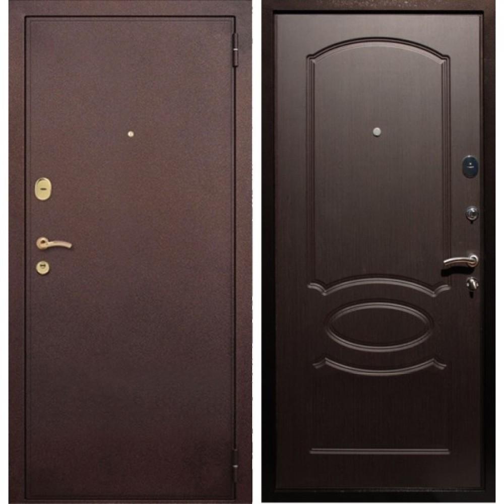 Входная дверь Рекс 2 Венге (Антивандальная)