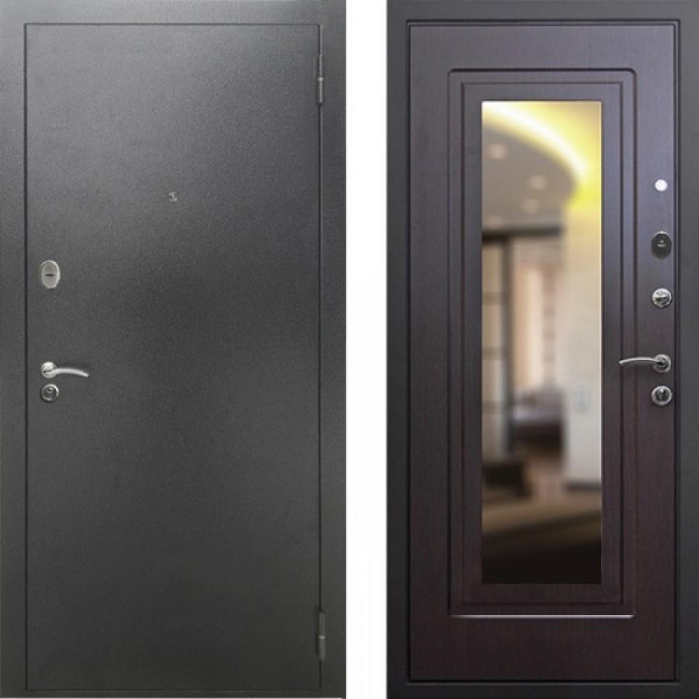 Входная дверь Рекс 2A Зеркало Венге  ( Антивандальные )