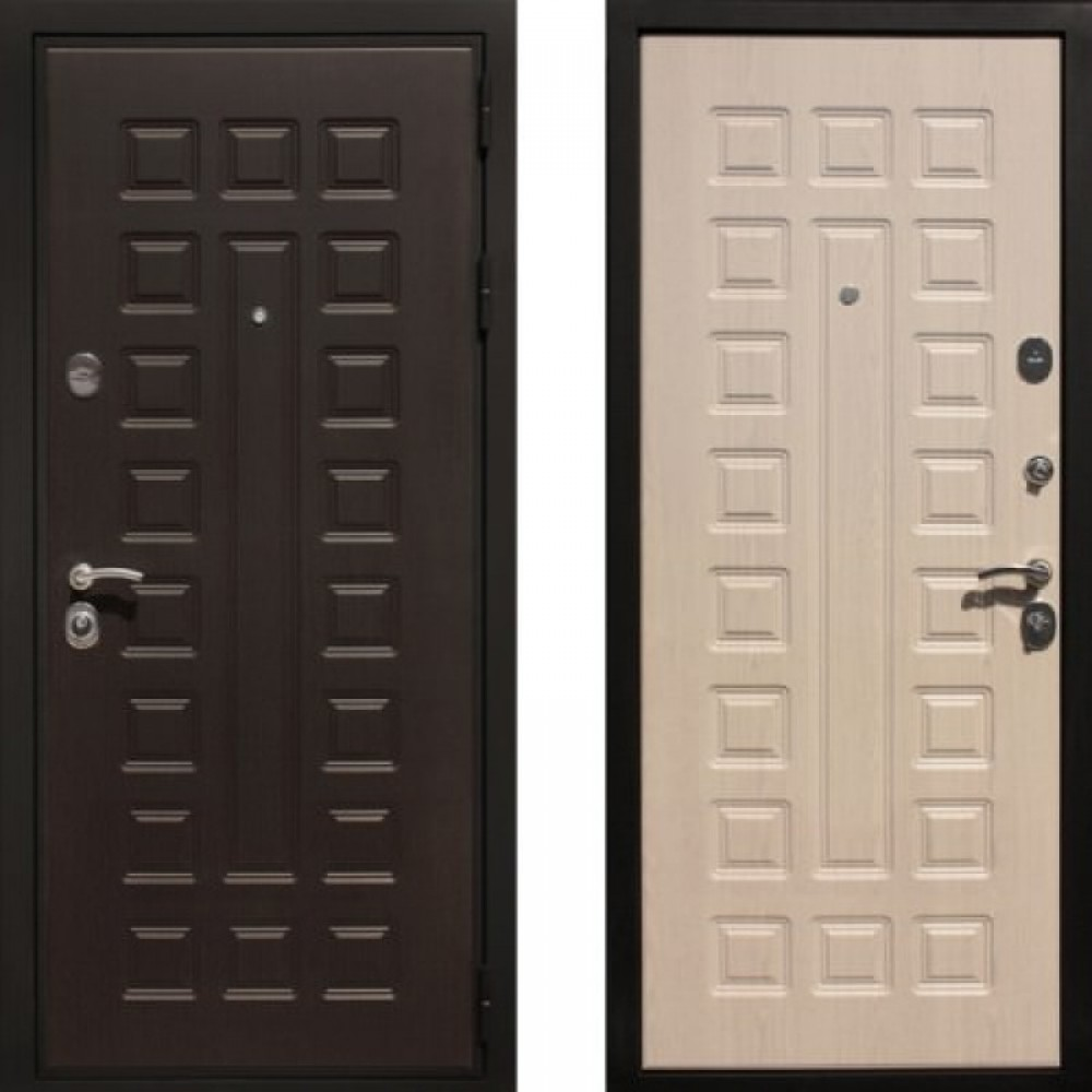 Входная дверь Рекс  Премиум 3 Беленый Дуб  (С шумоизоляцией )