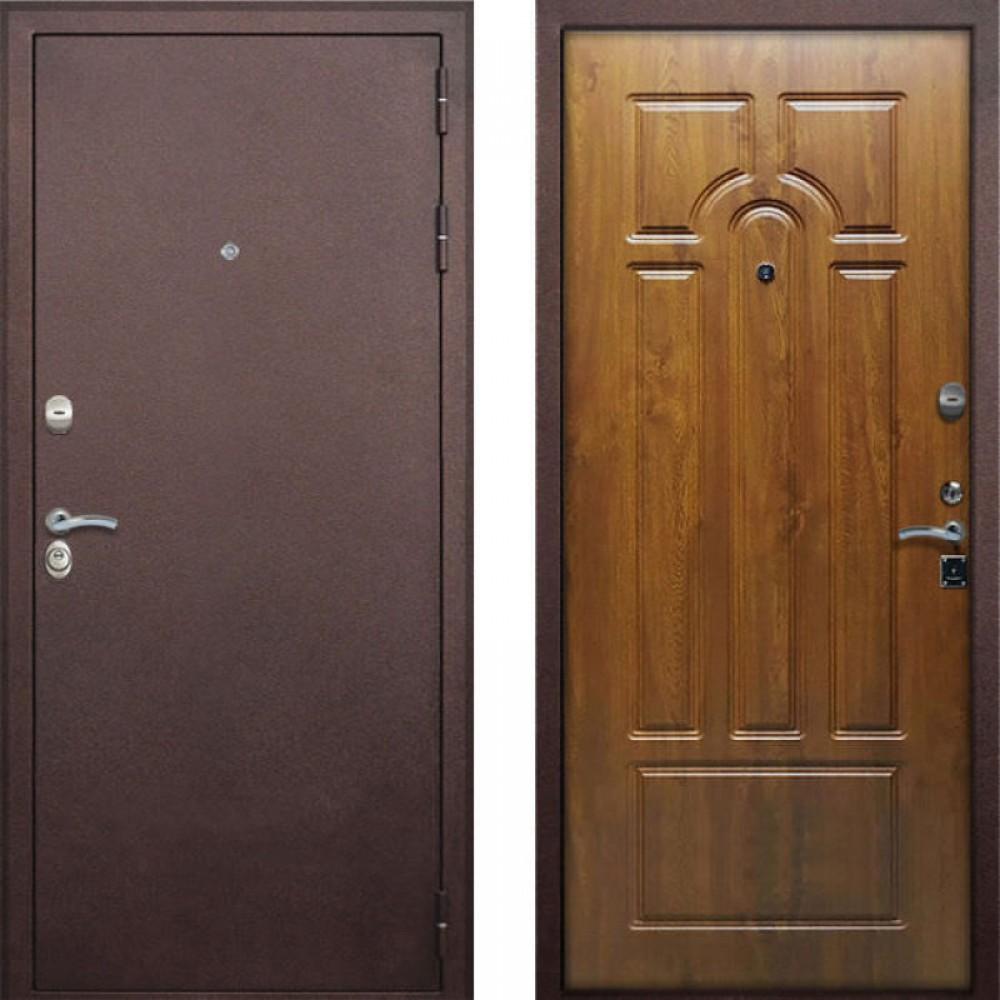 Входная дверь Рекс 4-х контурная Дуб Золотой (Антивандальные)