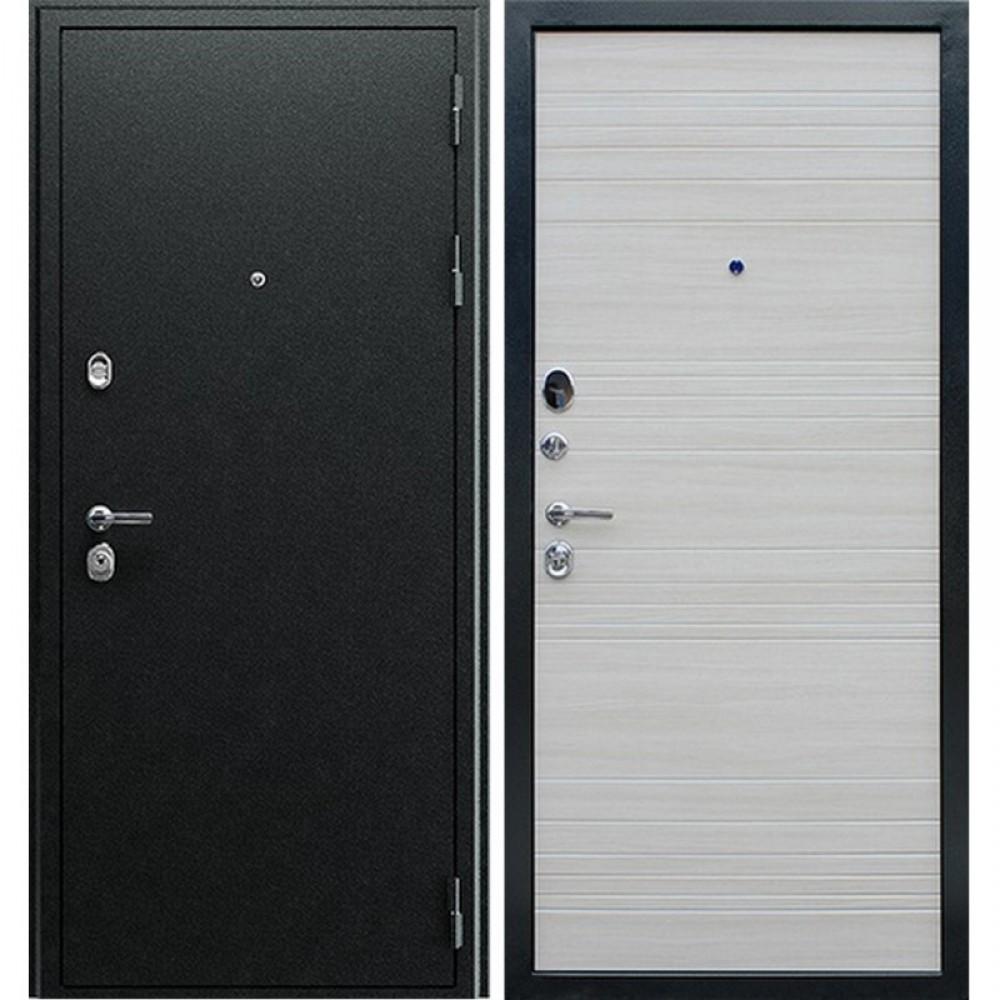 Входная дверь Рекс 5А Акация Светлая Поперечная    ( Трехконтурные )