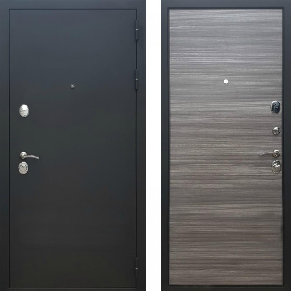 Входная дверь Рекс 5А Сандал Серый Горизонт  ( Трехконтурные )