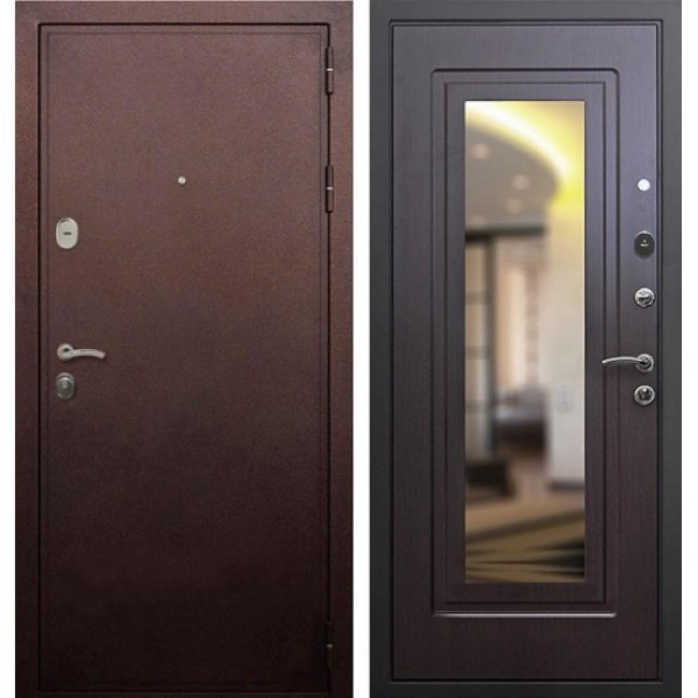 Входная дверь Рекс 5А Зеркало Венге (Трехконтурные)