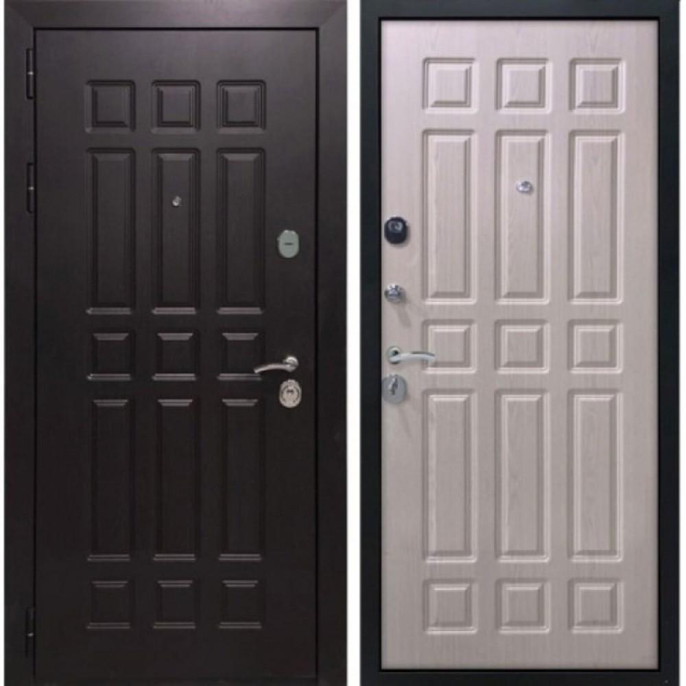 Входная дверь Рекс 8 Беленый Дуб (сейфовые)