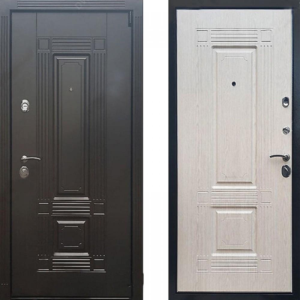 Входная дверь Рекс 9 Беленый Дуб (сейфовые)