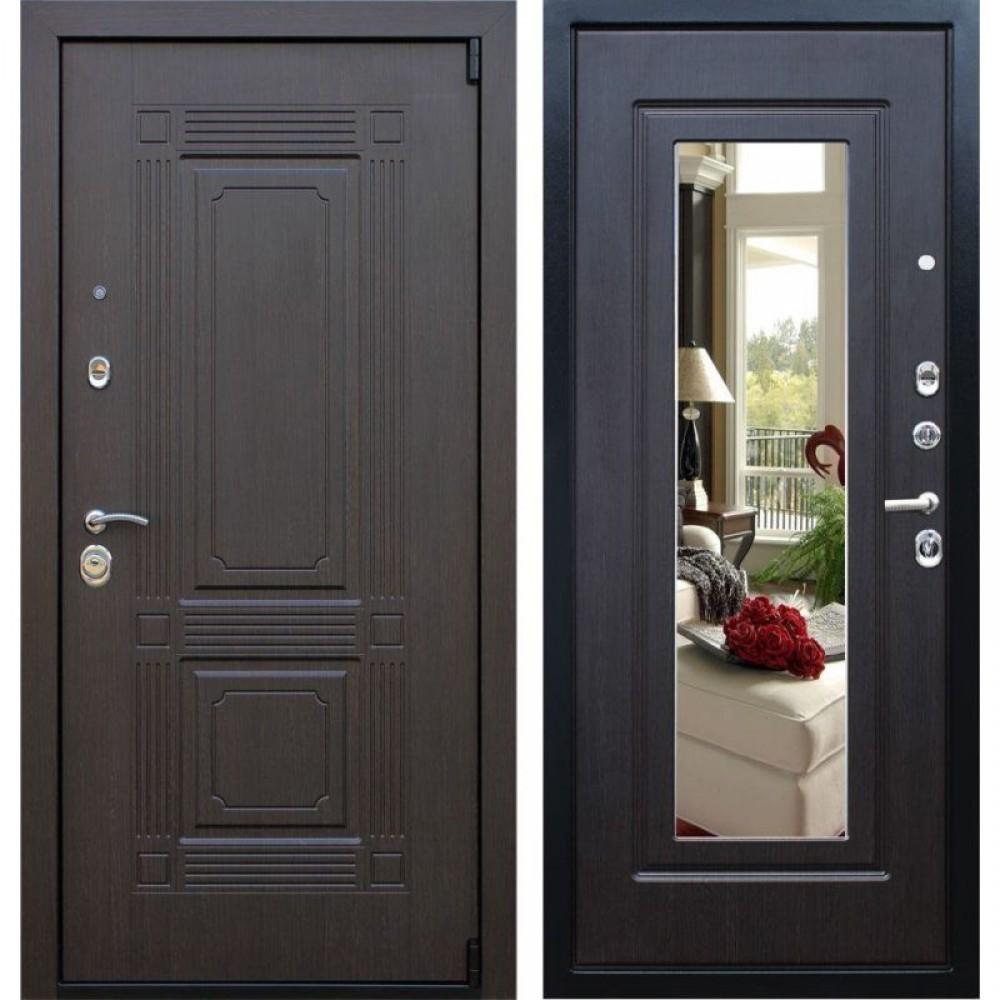Входная дверь Рекс 9 Зеркало Венге (с шумоизоляцией)