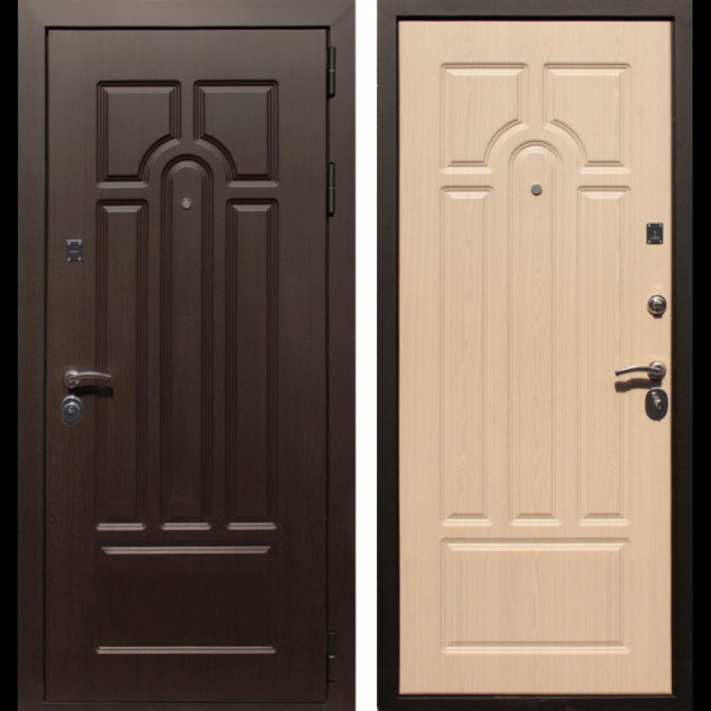 Входная дверь Рекс Эврика Беленый Дуб (С шумоизоляцией)