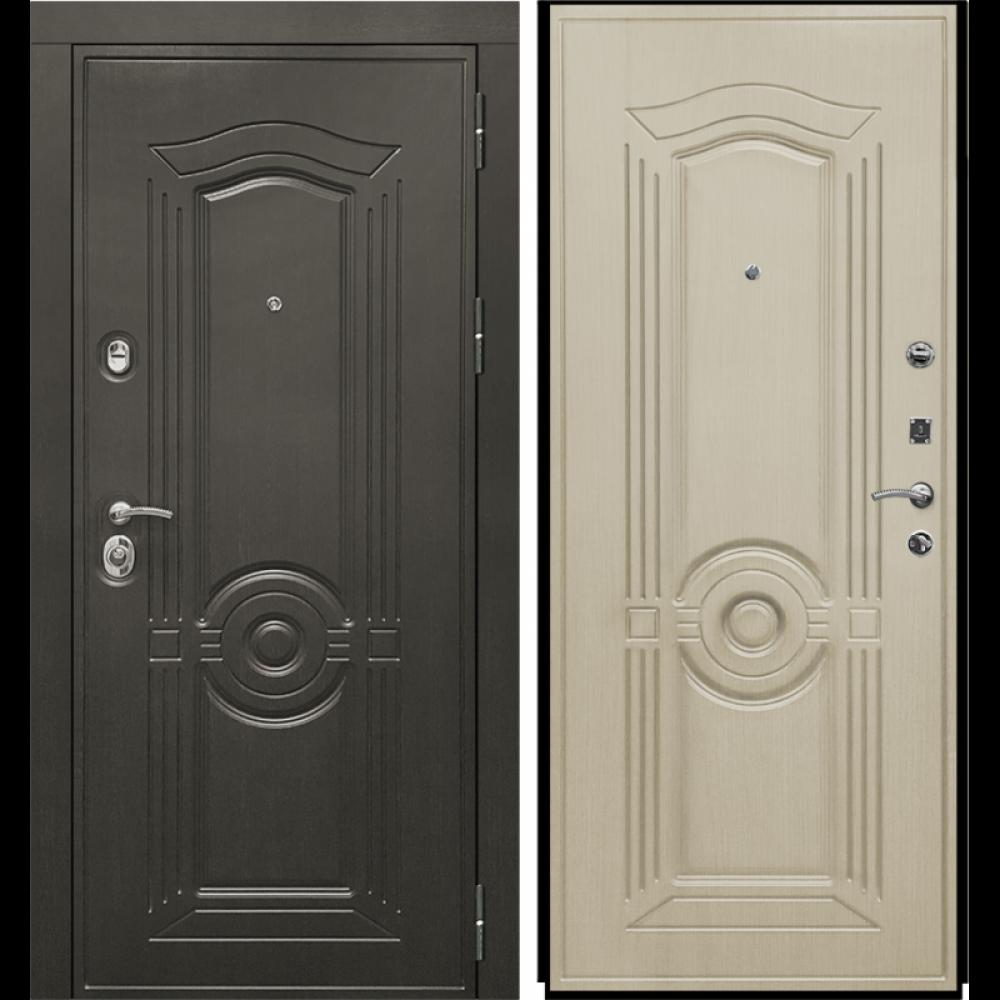 Входная дверь Рекс Grand Беленый Дуб (сейфовые)