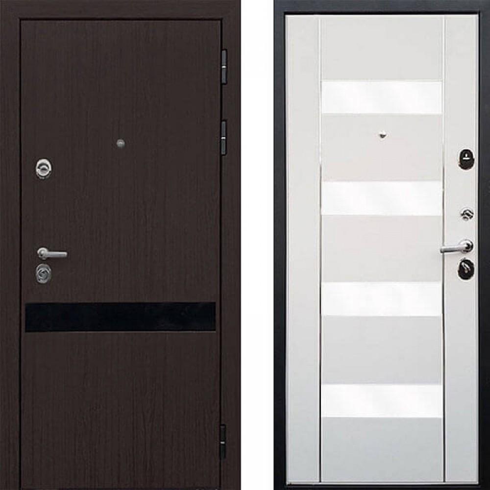 Входная дверь ReX Премьер Z-2 Вайт белое стекло (сейфовые)