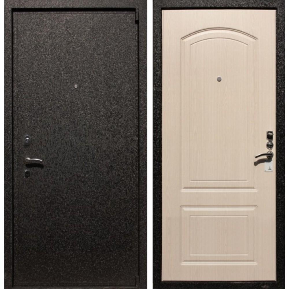 Входная дверь Рекс Премиум 6 Беленый Дуб (Трехконтурные)