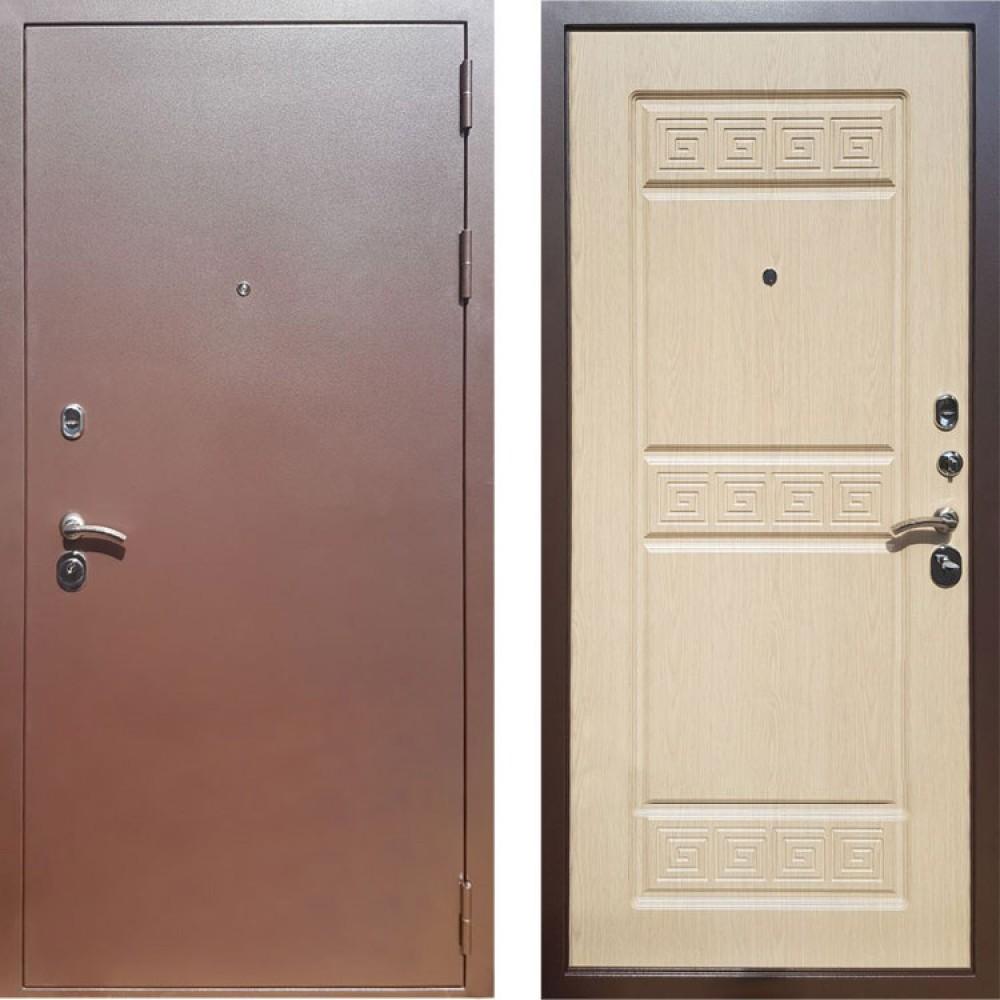 Входная дверь Рекс Троя 3К Беленый Дуб ( Антивандальные)