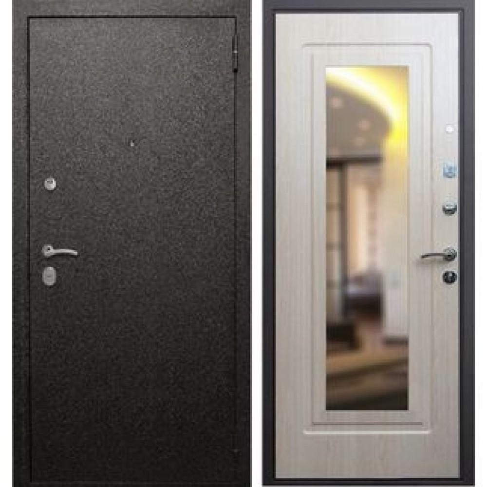 Входная дверь Рекс Верона 6 Зеркало Беленый Дуб ( Наружного открывания)