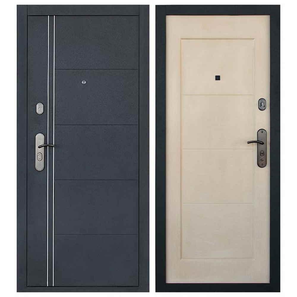 Входная дверь  Форпост  С-128 (беленый дуб)
