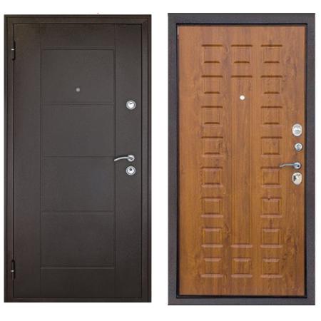 Квартирная металлическая входная дверь Форпост Квадро дуб золотой (Антивандальные)