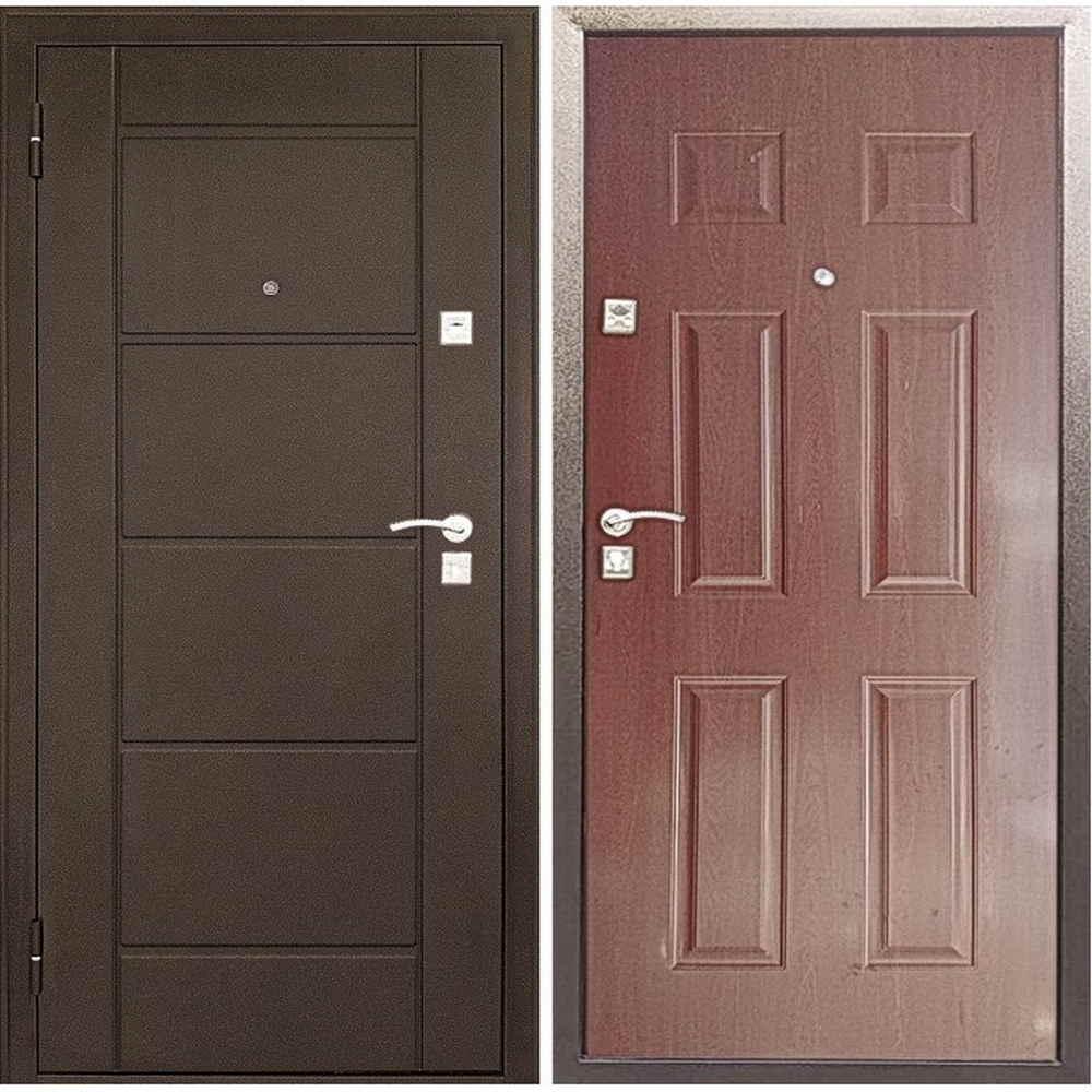 Стальная дверь в квартиру Форпост 73 орех (Антивандальные)
