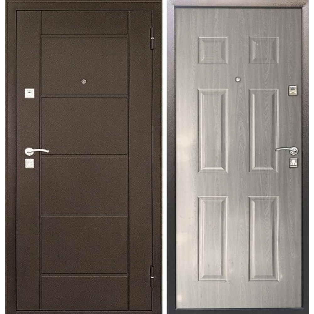 Входная дверь Форпост 73 беленый дуб (Антивандальные)